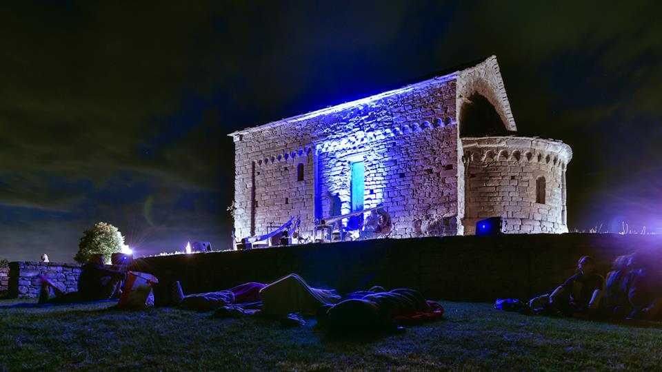 Preparation before midnight concert Summer Solstice 2015 - Bergolo, Alta Langa (Italy) -Picture by Fulvio Silvestri -