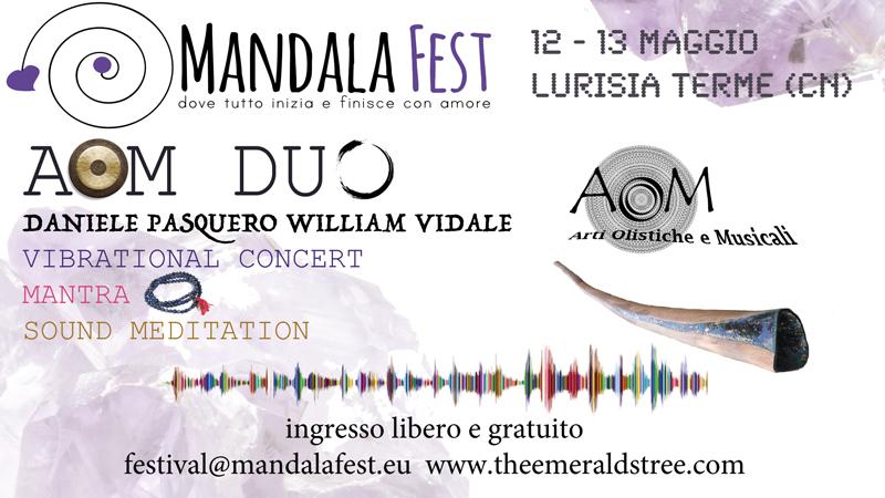 12.05.18 e 13.05.18 MandalaFest a Lurisia Terme partecipazione AoM Duo